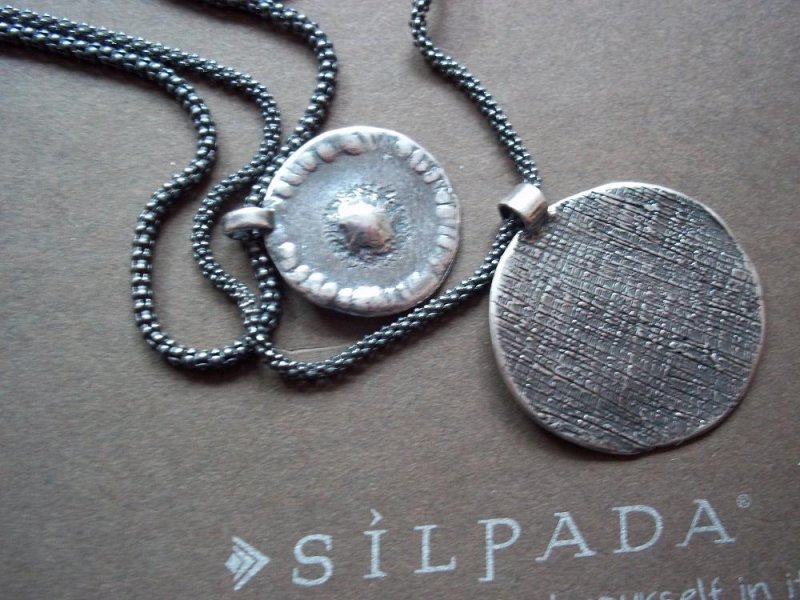 N1823 retired silpada sterling silver disc necklace 2009 for Cookie lee jewelry catalog 2009