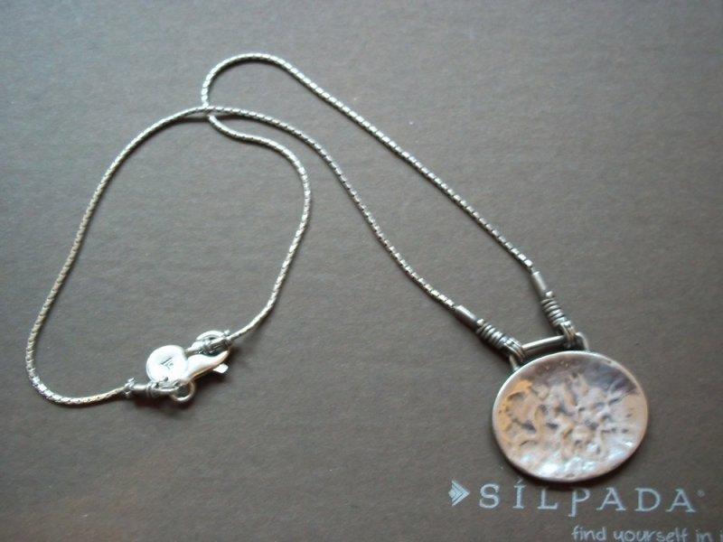 N1356 retired silpada hammered pendantnecklace aloadofball Images