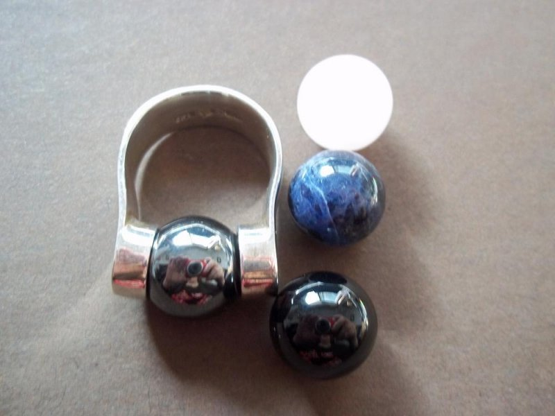R0328 Rare Retired Silpada Interchangeable Stone Ring Size 6