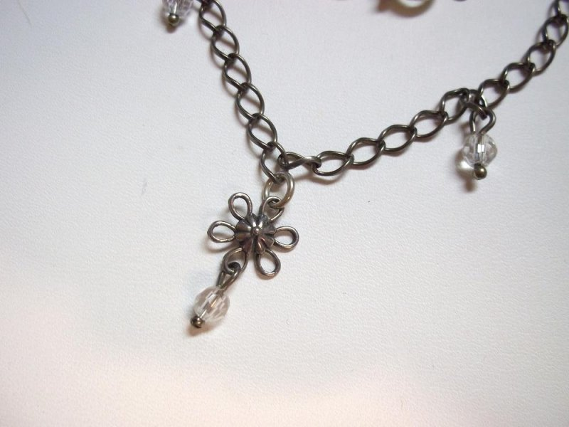 a1554 retired silpada sterling charm ankle bracelet 2009