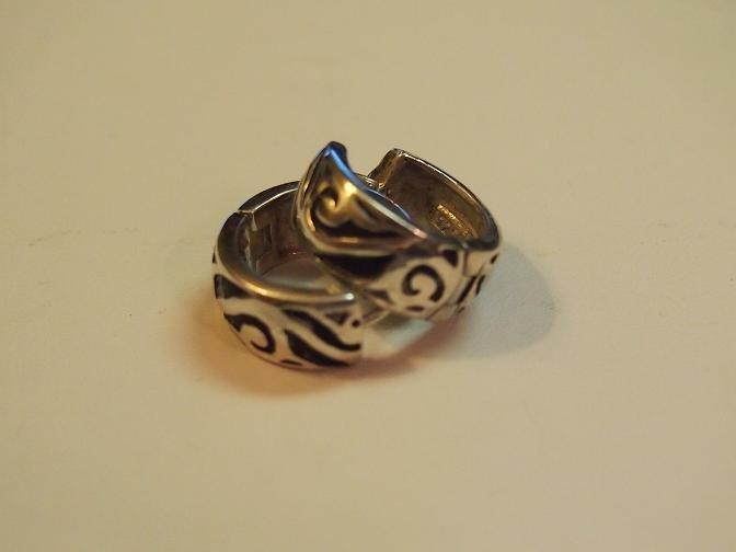 p1735 retired silpada sterling silver scroll detailed earrings