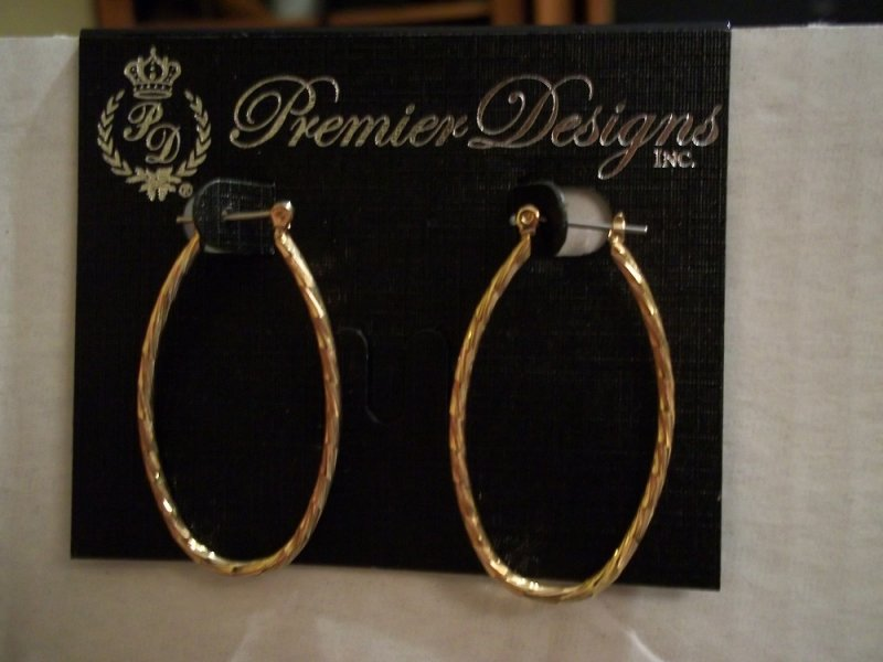 hot cakes premier designs hoop earrings gold