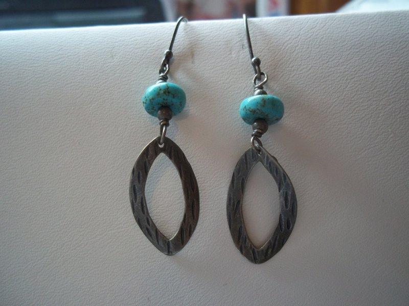 w1862 silpada retired turquoise drop earrings