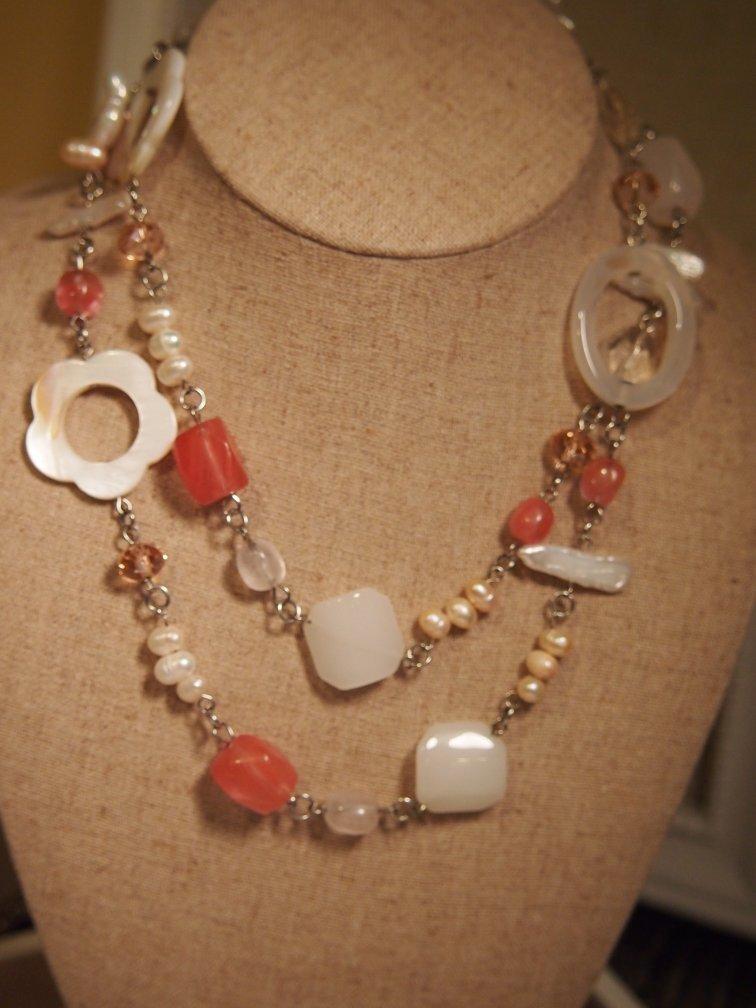 Blush retired premier designs necklace for Premier jewelry catalog 2011
