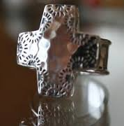 R3057 Vintage Retired. Silpada Good Graces Cross Ring Sterling Silver
