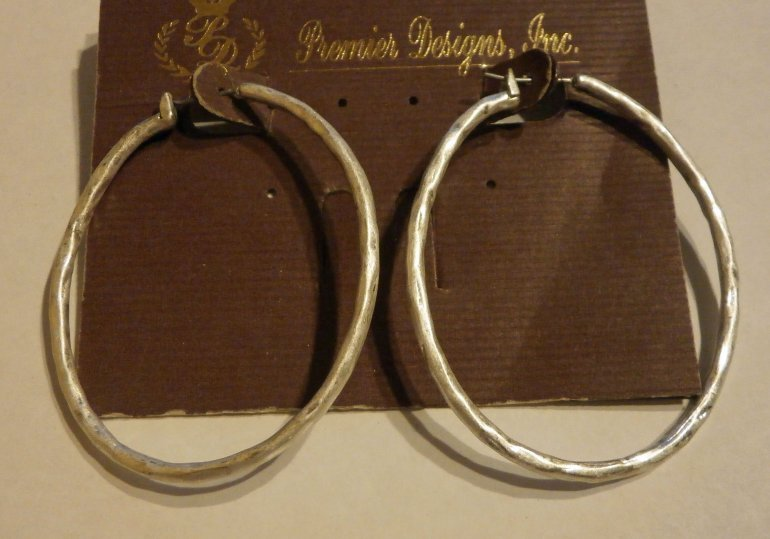 take two retired premier designs hoop earrings