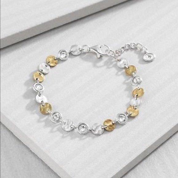 B3417 Silpada Crystal Link Bracelet