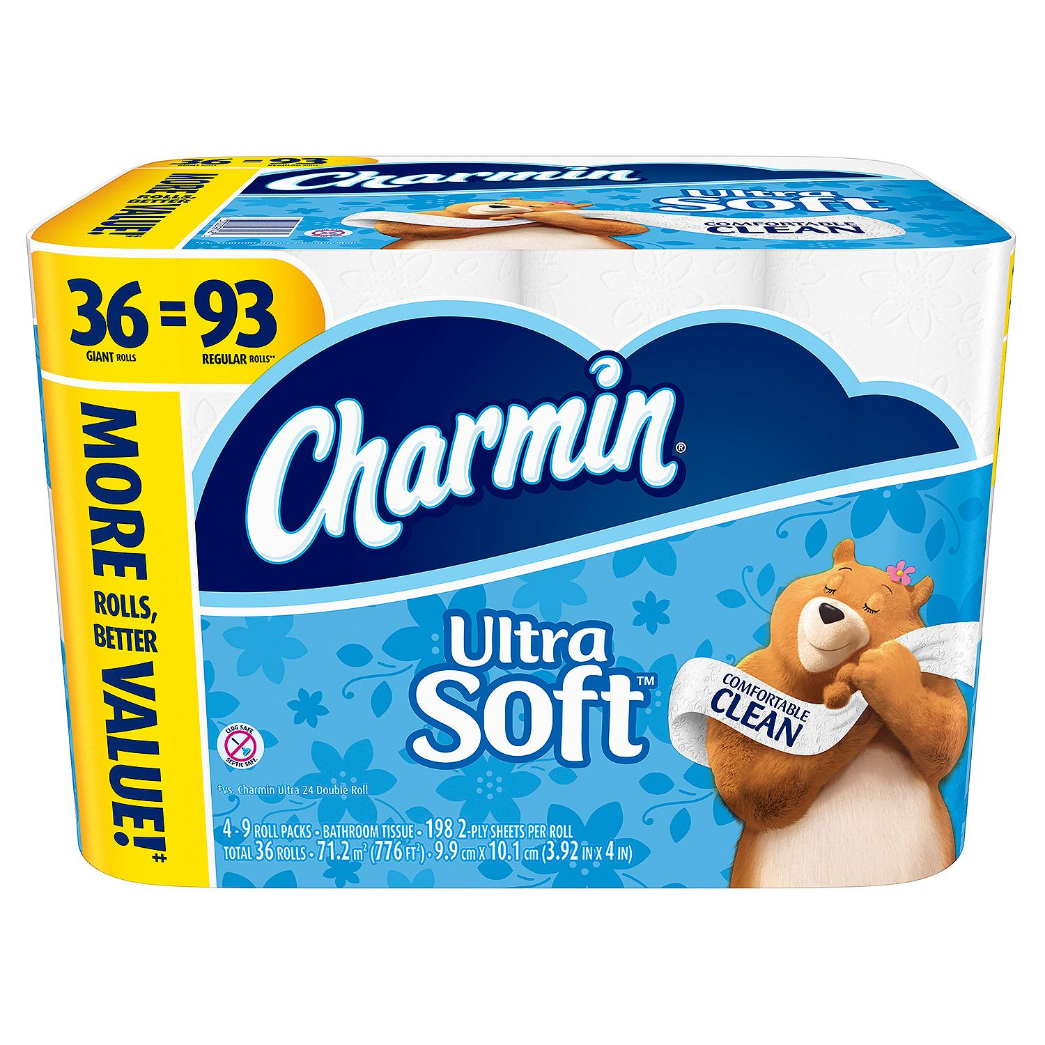 Charmin Toilet Paper On Sale: Charmin Ultra Soft Bathroom Tissue 36 Giant Rolls = 93 Regular