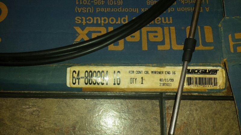 Image 1 of 64-809894 14 Mercury Marine THROTTLE SHIFT CABLE  new
