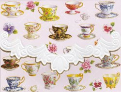 Carol Wilson Teacups 10 ct Embossed Note Card Set For Arts Sake * See Note