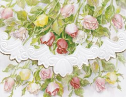 Carol Wilson Long Stemmed Roses 10 ct Note Card Set *See Note ~ Special Price