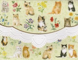 Carol Wilson Kittens 10 ct Note Card Set *See Note ~ Special Price