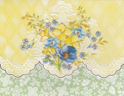 Carol Wilson Sunny Bouquet 10 ct Note Card Set *See Note ~ Special Price
