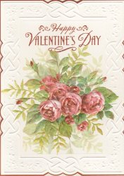Carol Wilson Valentines Day Greeting My One and Only Roses CG3168
