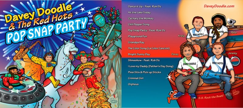 Image 0 of Pop Snap Party Album CD by Davey Doodle & the Red Hots
