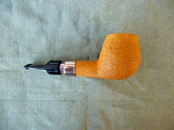 Image 1 of ALBERTO BONFIGLIOLI  Silver Spigot Sandblast Straight Short Brandy