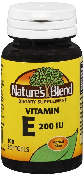 Natures Blend Vitamin E 200IU 100 Softgel