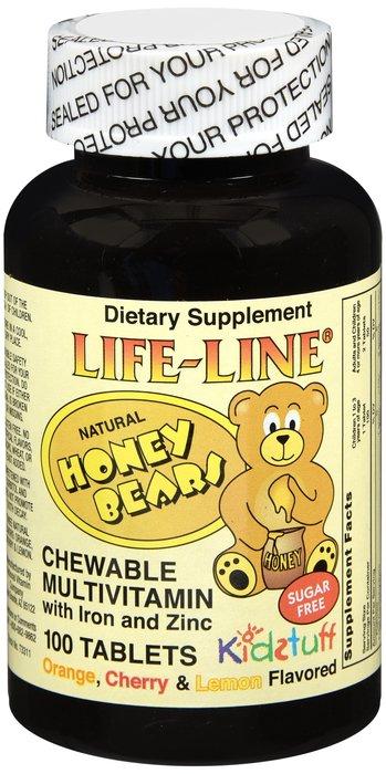 National Vitamin Multivitamins Iron Bear 100 Chew