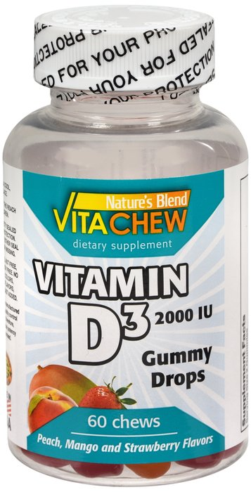 Natures Blend Vitamin D3 2000 IU Fruit 60 Gummy